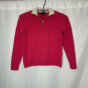 346 Brooks Brothers Womens Size L 1/4 Zip Pullover